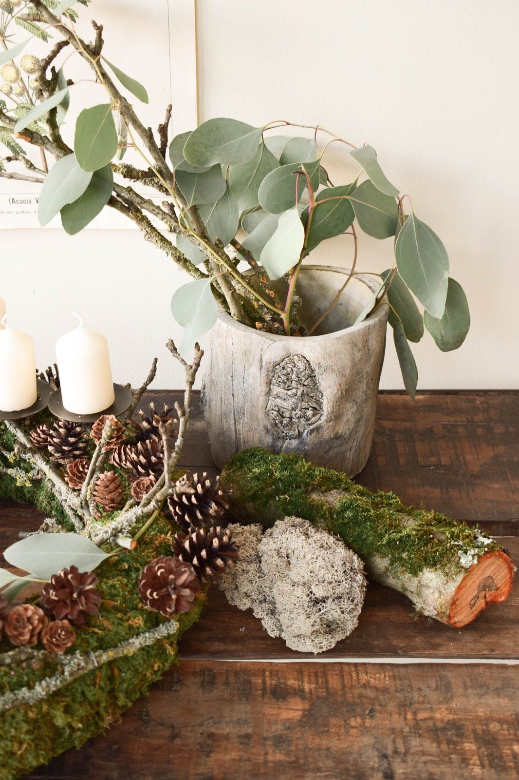 adventskranz selber machen diy mooskranz f r advent mit. Black Bedroom Furniture Sets. Home Design Ideas