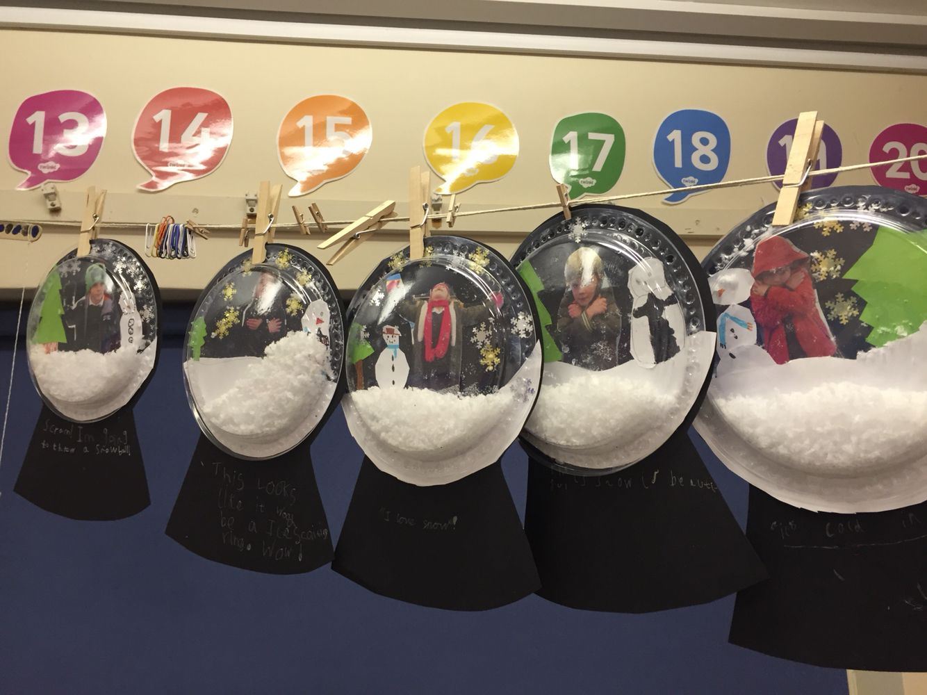 Snow globes made by ks for christmas craft day christmas craft