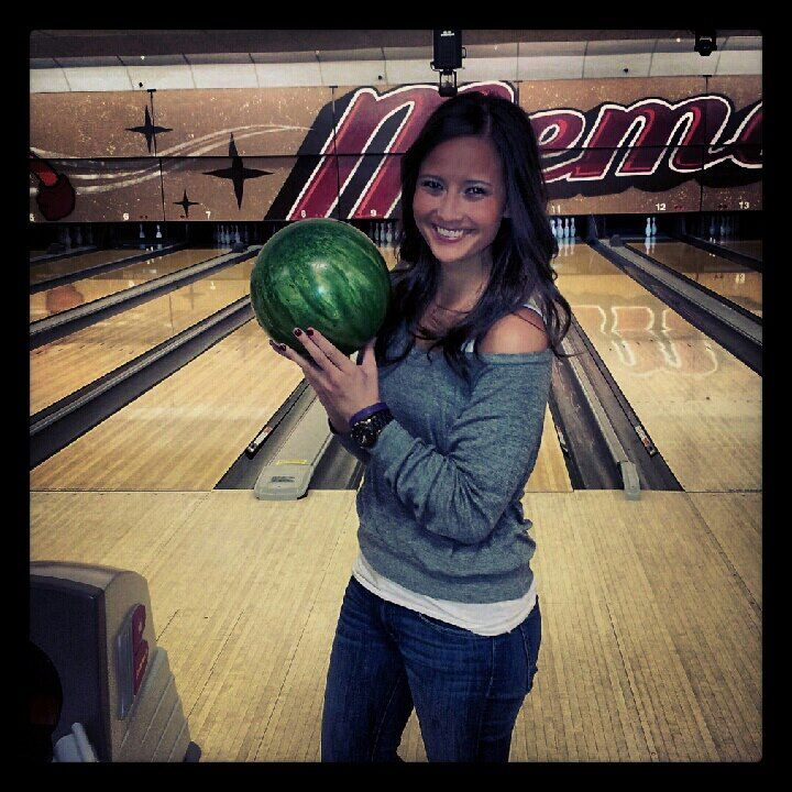 I love bowling!  My personal high score is 203!!  - A