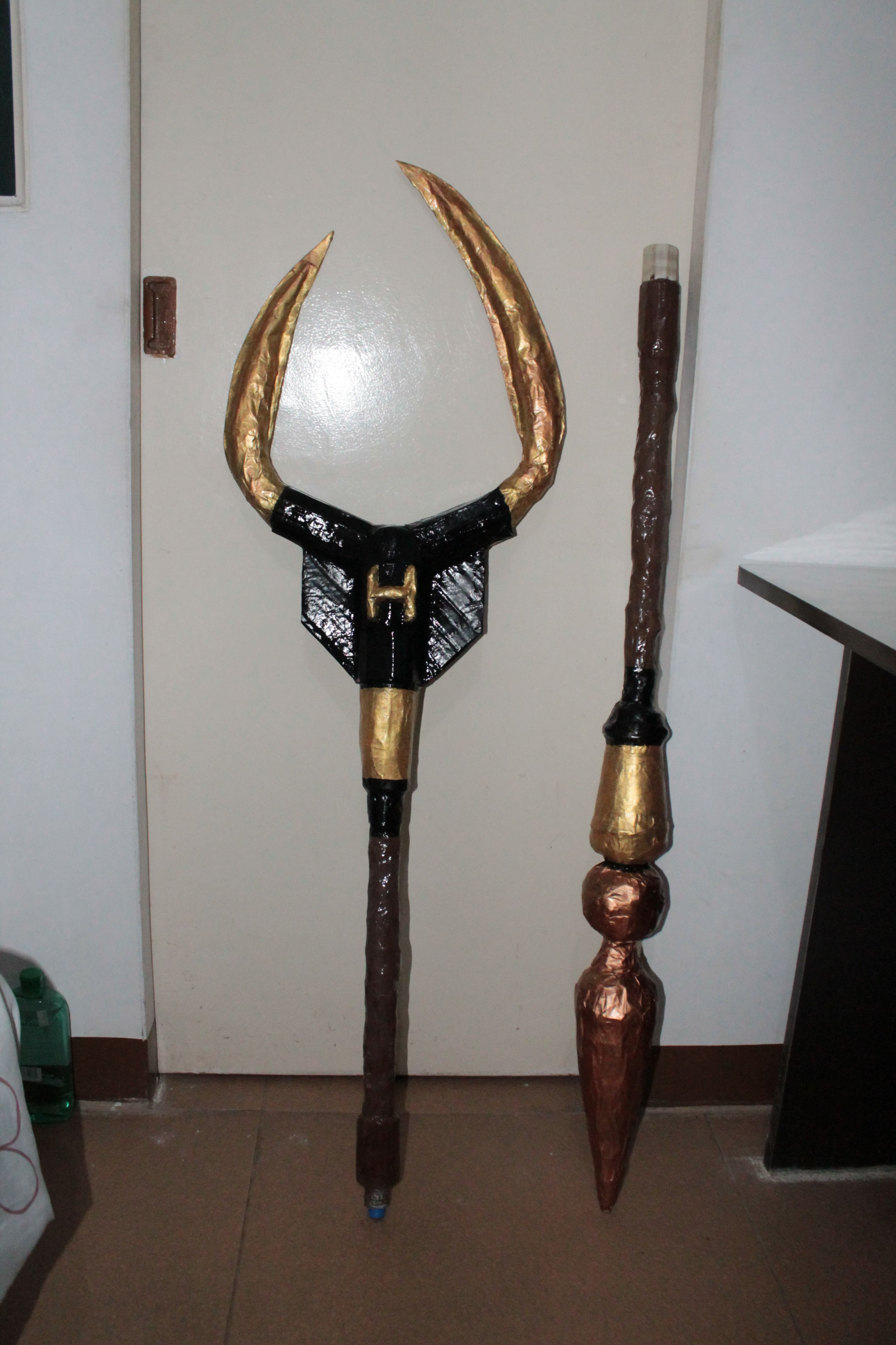 Hades' Two-Pronged Spear (or Pitchfork) when detached ...