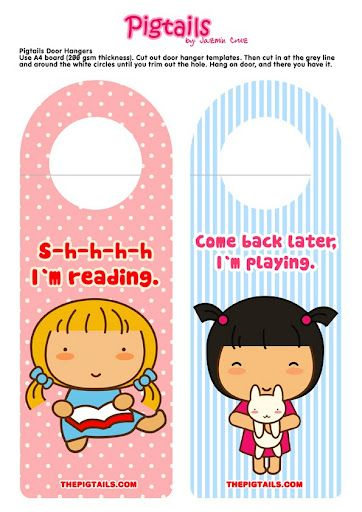 Printable Doors Hangers Diy Bookmarks Pigtail Scrapbook Designs Door Embellishments