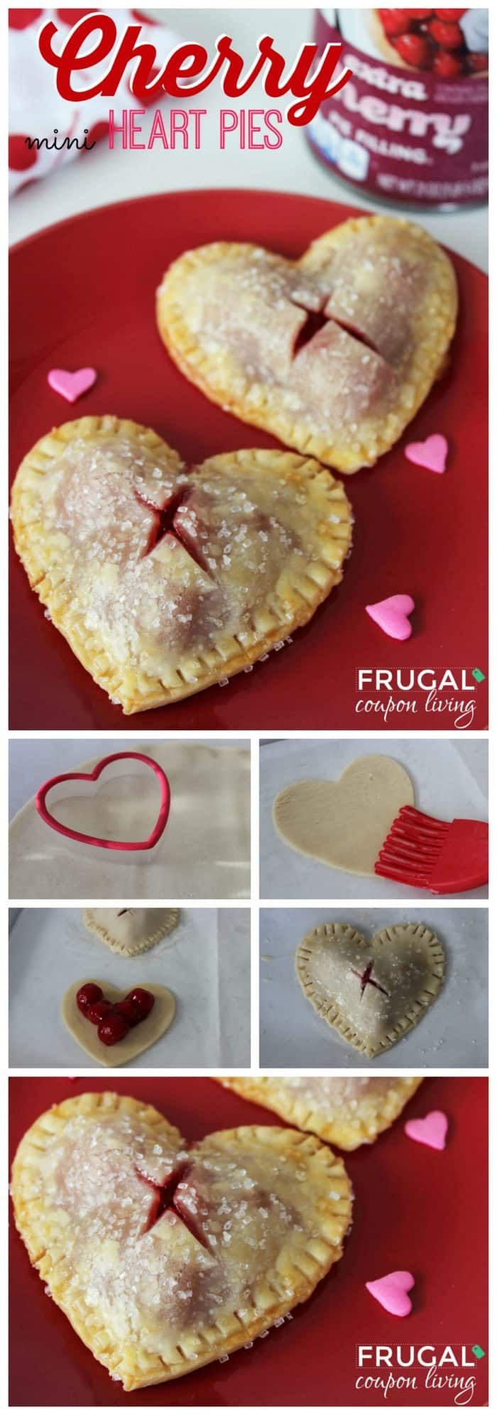 Valentines Day Mini Cherry Heart Pies