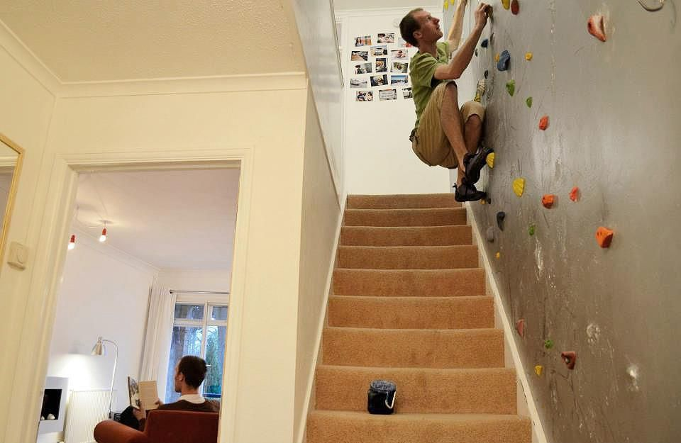 Climbing wall at your home! | Home Rock Climbing Walls | Pinterest ...