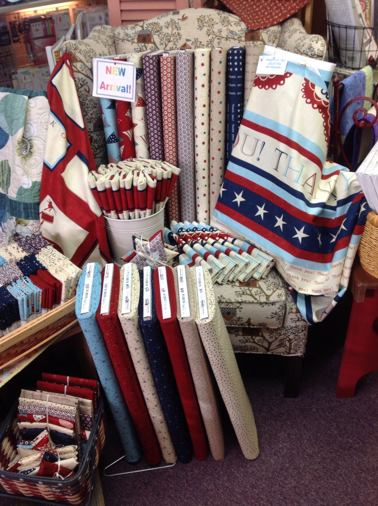 Red, White and Free by Sandy Gervais of Moda fabrics. Available at ... : pinetree quilt shop - Adamdwight.com