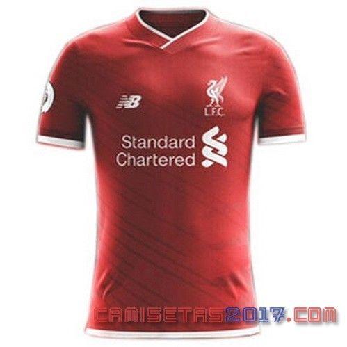 Camiseta Liverpool Primera 2017-2018 exposición | Camiseta primera 2017-18  del Liverpool |