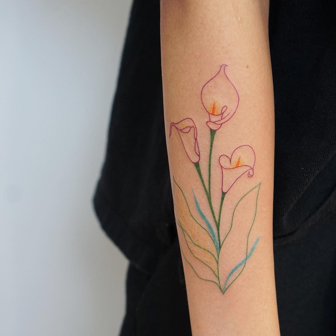 4385 curtidas 16 comentrios jess chen jesschen no flower tattoos calla lillies 4385 curtidas 16 comentrios jess chen jesschen no instagram izmirmasajfo