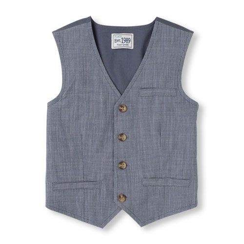 The Childrens Place Boys Baby Oxford Dressy Vest