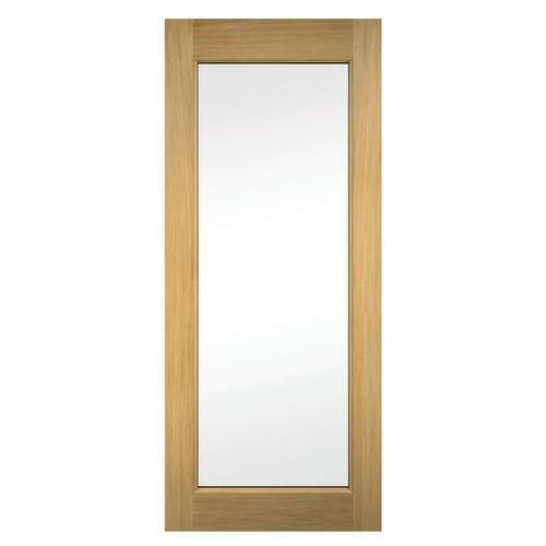 Wickes Oxford External Oak Door Glazed 1981x762mm