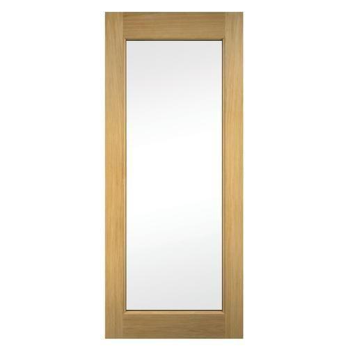 Wickes Oxford External Oak Veneer Door Glazed 1981x762mm Doors