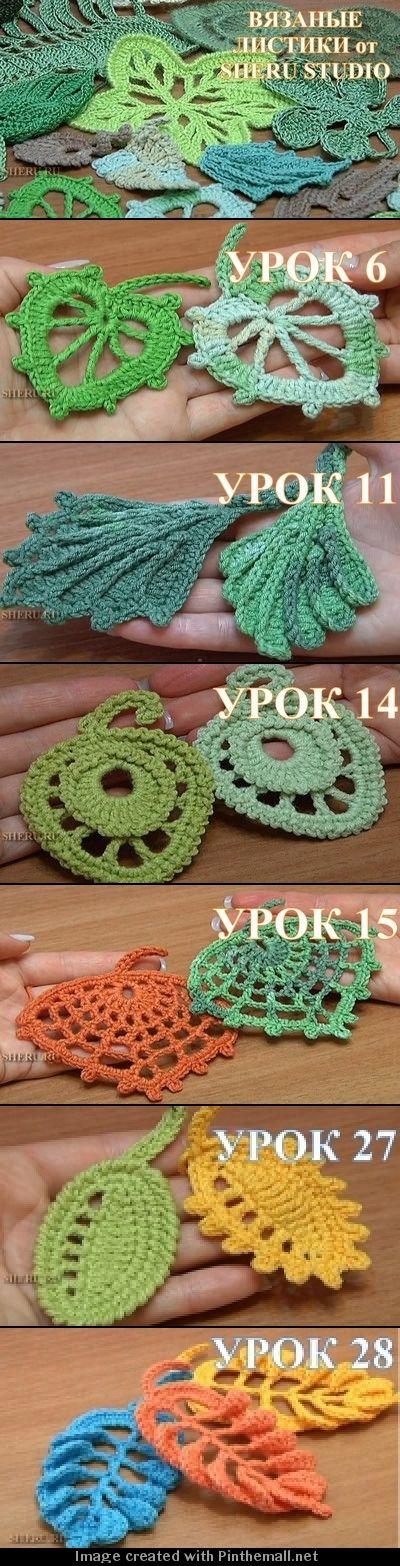 great video tutes on irish crochet motifs on sheru website - these ...
