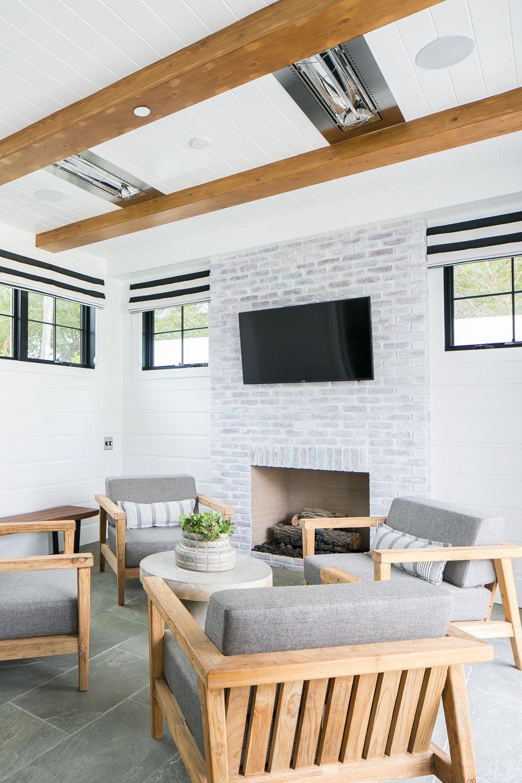 LivingRoomideas Brick fireplace, Farmhouse style house