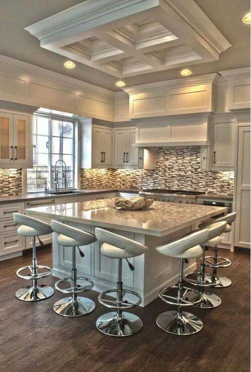 30 Spectacular White Kitchens With Dark Wood Floors   Home U0026 Garden Sphere
