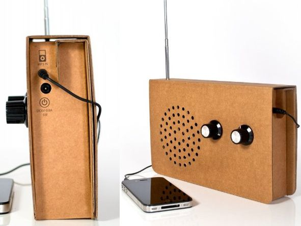 the cardboard radio boasts an extremely simple design and is rh pinterest com au
