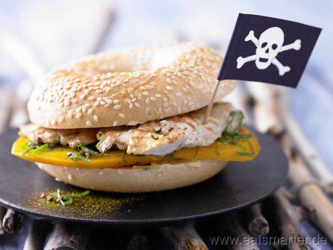 Puten-Sandwich - smarter - ein saftiger Sattmacher.   Kalorien: 409 kcal   Zeit: 20 min. #kids