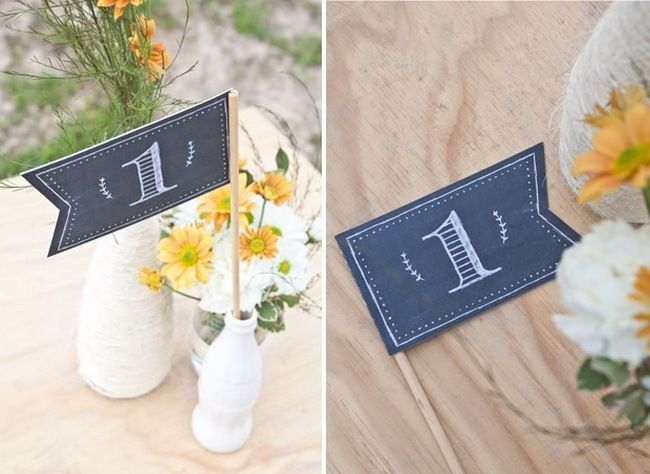 Chalkboard Wedding Ideas Free Printables Confetti Daydreams Flag Table Numbers