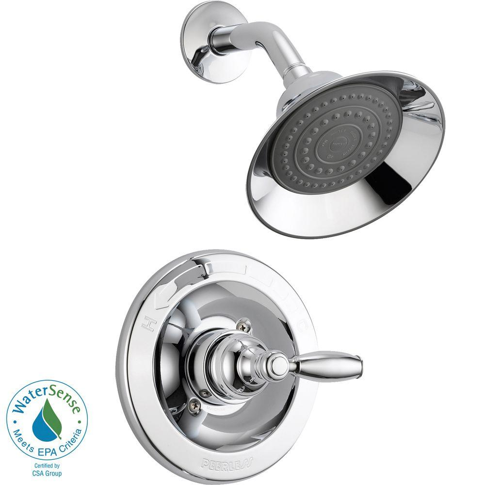 Peerless Claymore Single Handle Shower Faucet Trim Kit In Brushed