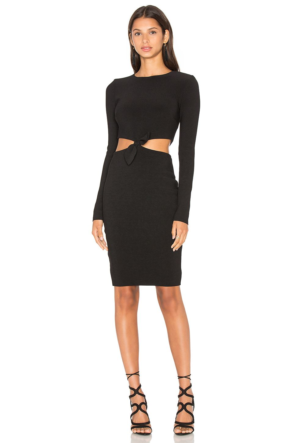 BEC&BRIDGE Lucienne Long Sleeve Dress in Black