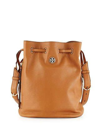 Brodie Pebbled Leather Bucket Bag, Bark by Tory Burch at Neiman Marcus.