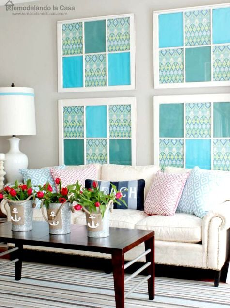 Coastal Summer Home With Diy Decor Coastal Living Room Ideas