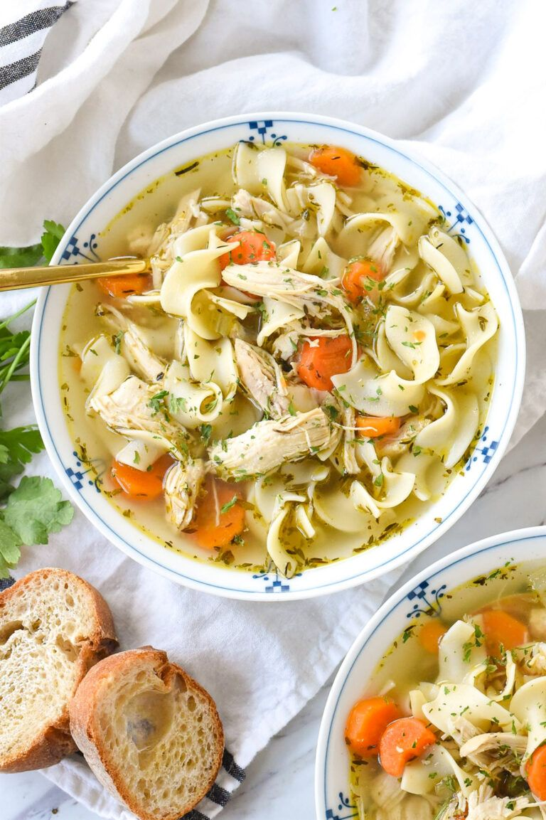 instant pot chicken noodle soup  recipe in 2020  chicken