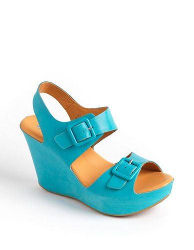Shoes | Sandals | Susie Leather Wedge Sandals | Lord and Taylor