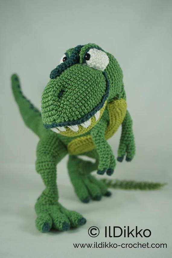 Amigurumi Crochet Pattern - T-mothy the T-rex - English Version ...