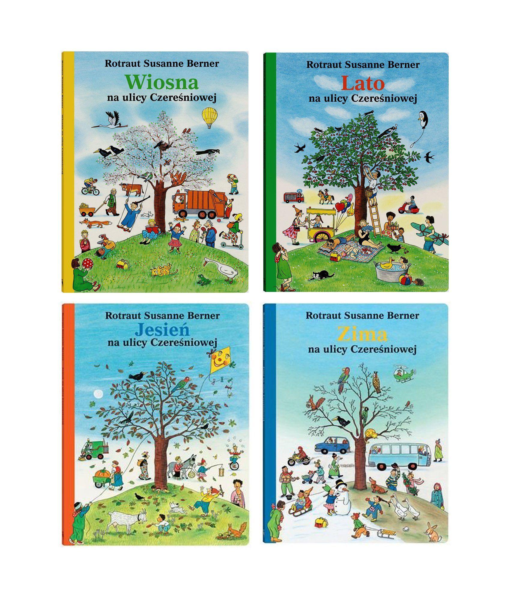 Zima Wiosna Lato Jesien Na Ulicy Czeresniowej Set 7539236405 Oficjalne Archiwum Allegro Book Cover Books Infantil