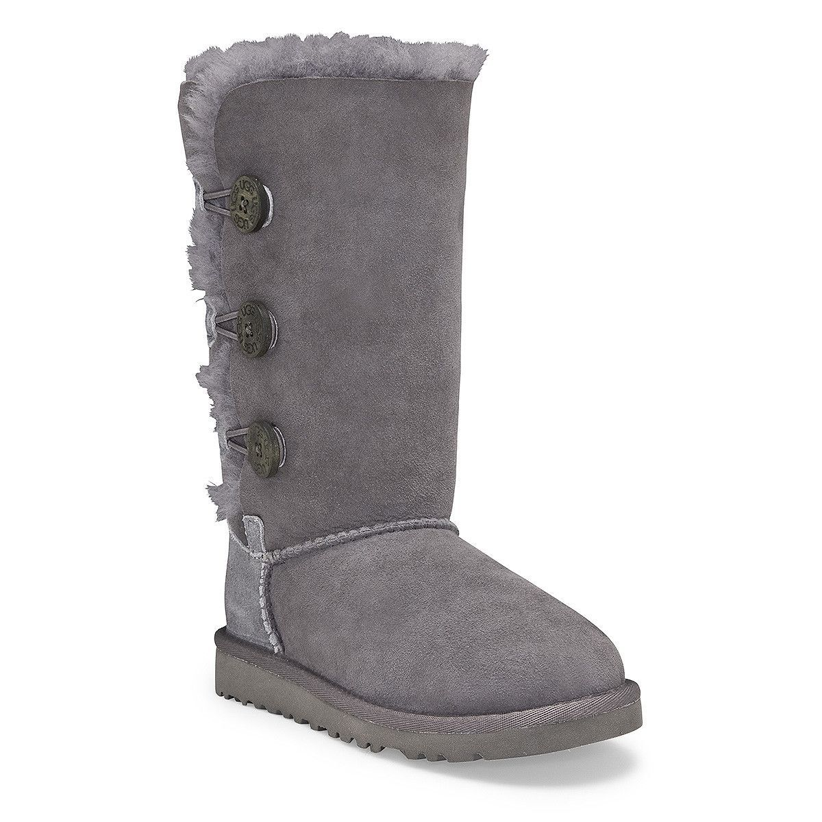 UGG Australia Girls' Bailey Button Triplet Sheepskin Fashion Boot >>> Learn  more by visiting the image link.