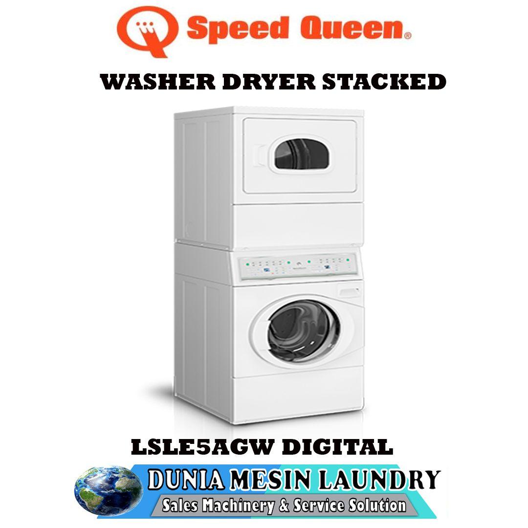 Dryer Stacked Speedqueen Digital Lsle5 Ags Pengering