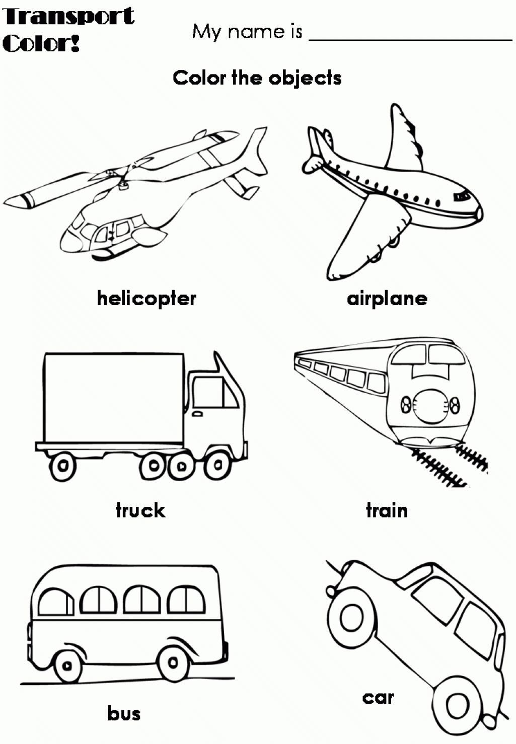 Nice Coloring Page Transportation That You Must Know You