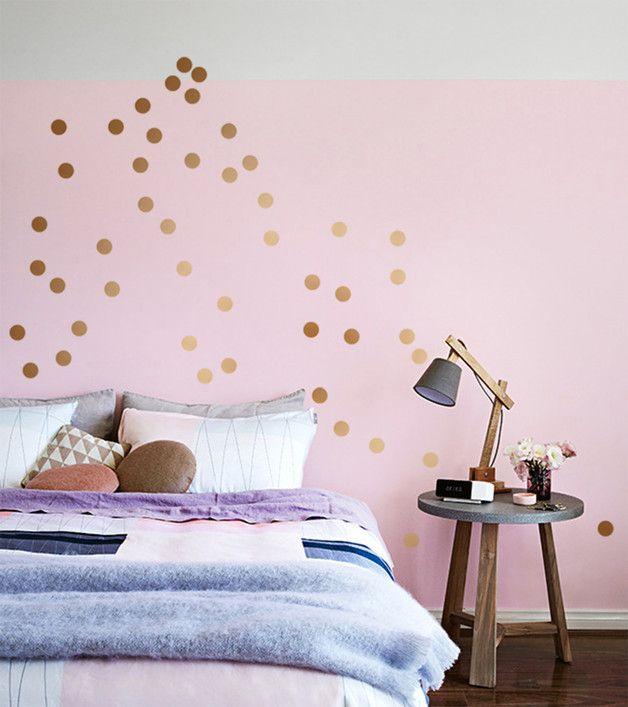 KONFETTI DOTS 35 Farben 20 Stk Wandsticker Punkte Art berlin - Bild Schlafzimmer Leinwand