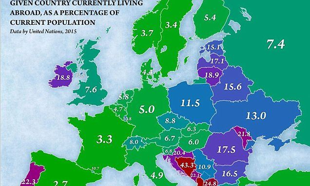 The European Countries Where Huge Swathes Of The Population Have