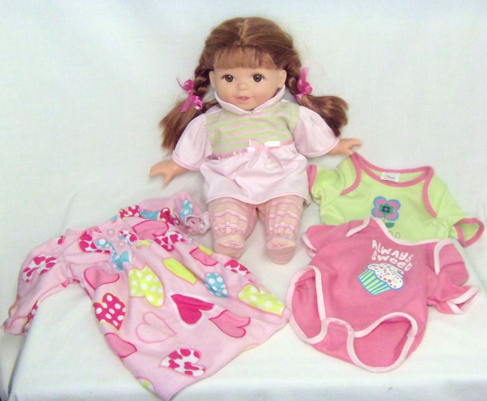 14 Baby Doll With Extra Clothes Red Hair Vinyl With Soft Body Long
