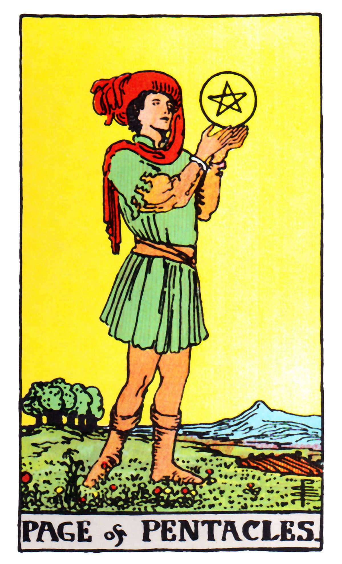 Page Of Pentacles ~ Rider Waite