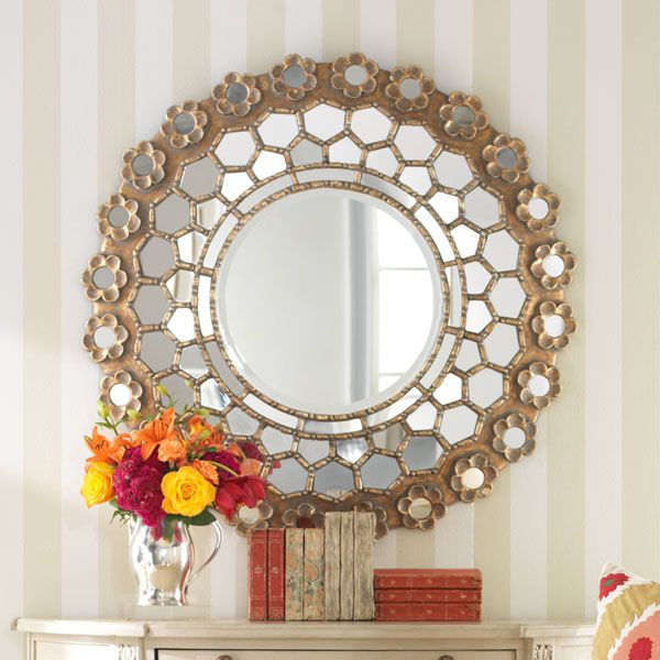 This Mirror Seems To Sparkle The Honeycomb Design Is Lovely The