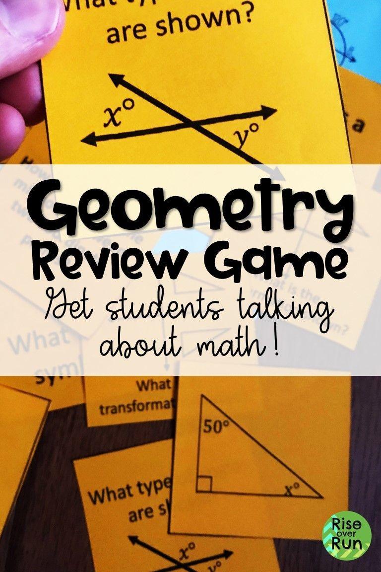High school geometry review game high school activities