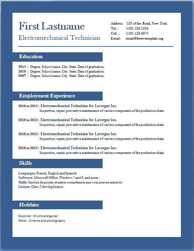 Free Cv Templates 29 To 35 Downloadable Resume Template Sample Resume Templates Free Professional Resume Template
