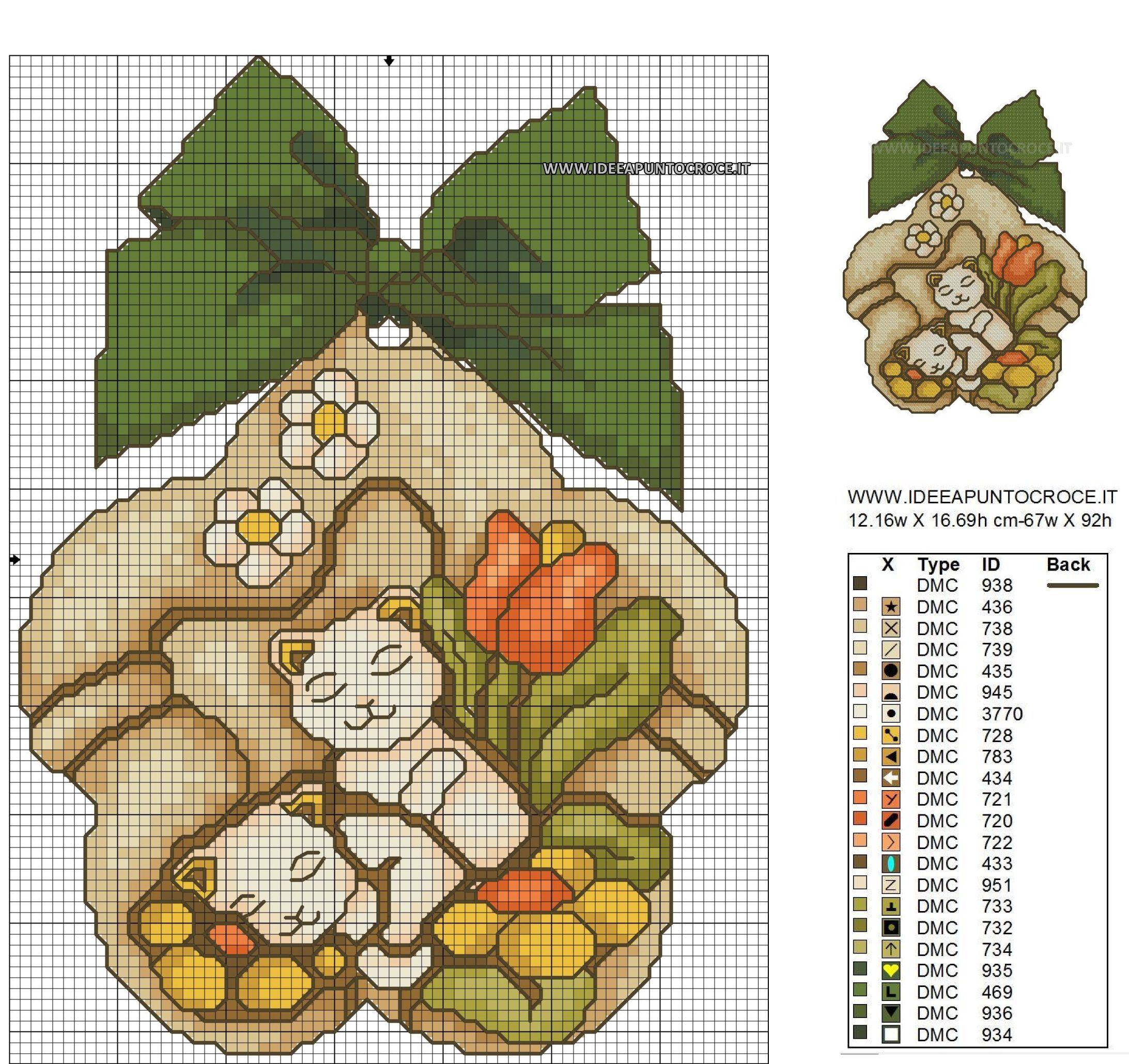 Risultati immagini per schemi punto croce castagne tipo for Punto croce immagini