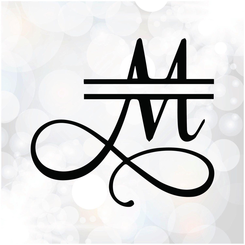 Download Split Monogram Font Alphabet Samantha Font Split letters ...
