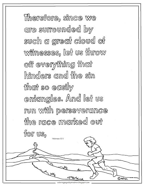running the race coloring pages - photo#35
