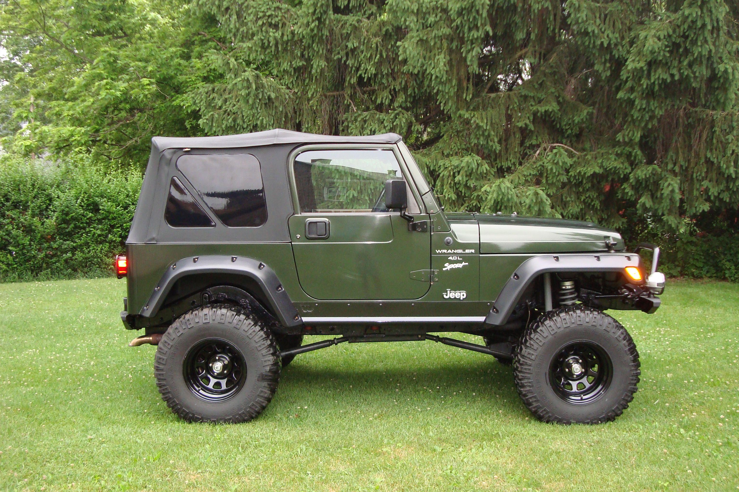 Green Tj Jeep Tj Military Jeep Jeep