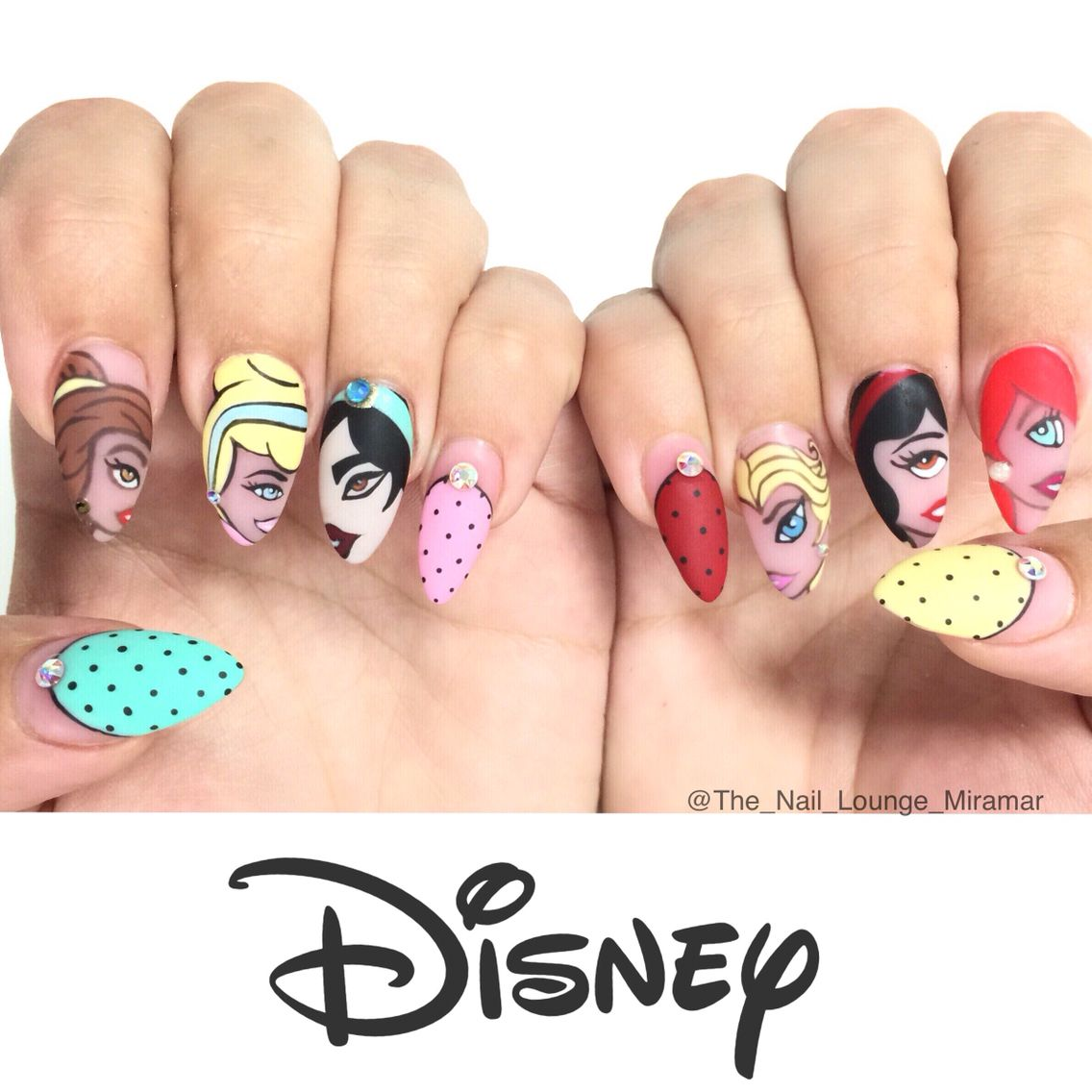 Disney\'s Princess nails art design | Arte de uñas | Pinterest
