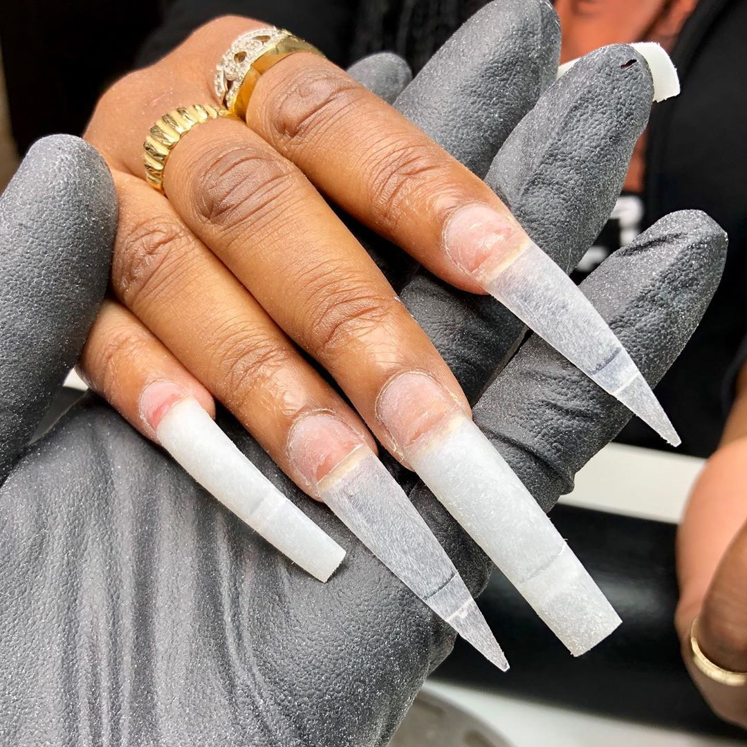 Marc The Nail Tech On Instagram Double Up My First Time Doing Double Tips Swipe For Final Outcome Link Glamorous Nails Nails Inspiration Get Nails