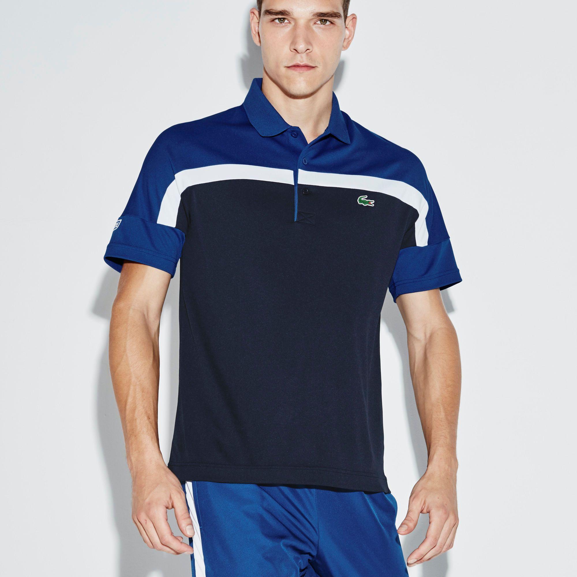 Lacoste SPORT Tennis polo in color block run-resistant ultra-dry piqué   LACOSTE 70fa493076