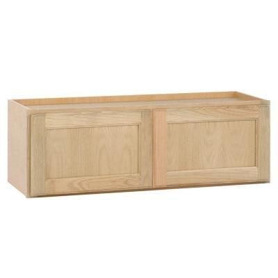 30x12x12 In Wall Bridge Cabinet In Unfinished Oak W3012ohd The