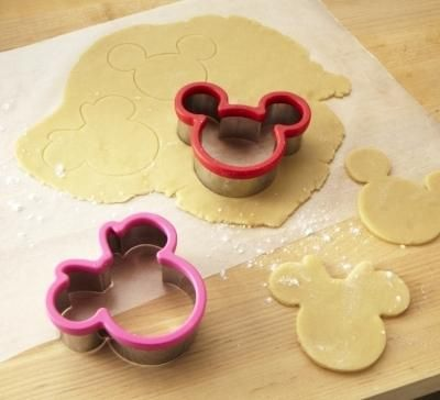 3d printed plastic Mickey Mouse Cookie Cutter and Stamp Set