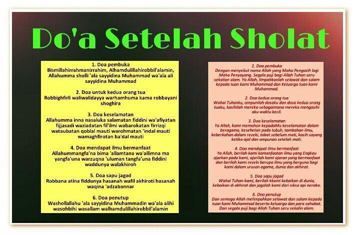 Doa setelah sholat | Doa Harianku | Islam dan Doa