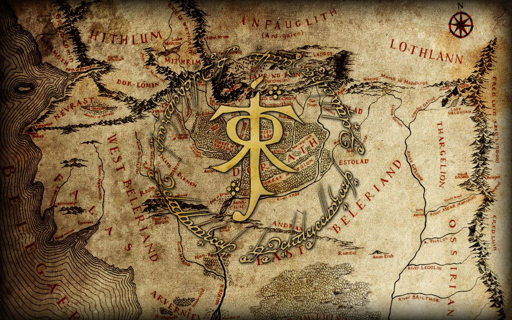 Map Of Middle Earth Wallpaper Maps Boxed Set For The Lord Rings Game Hd
