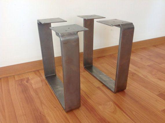 "Metal Dining Table Legs , 28 ""x 20"" Flat Steel Table Legs"