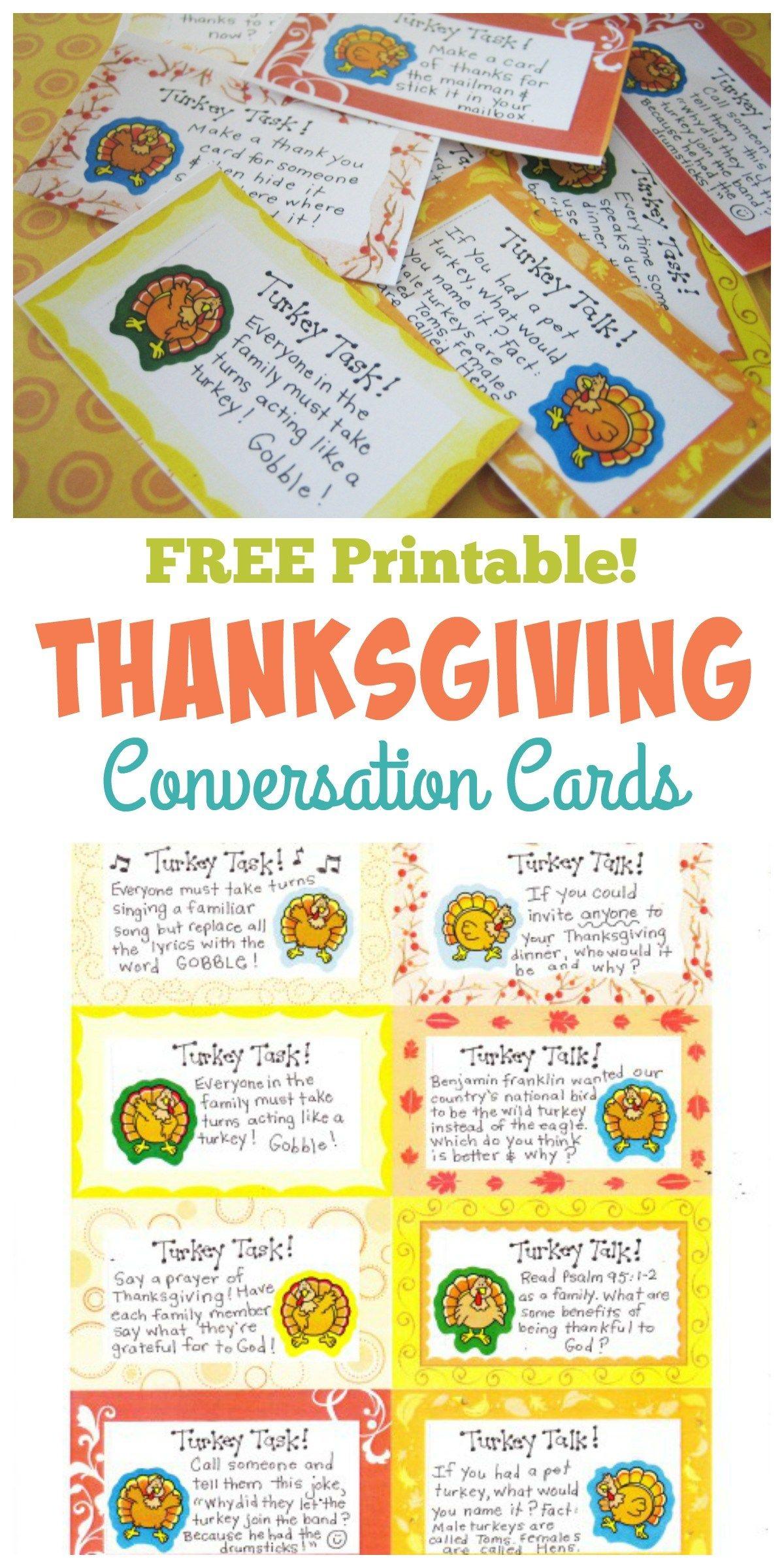 Thanksgiving Conversation Cards